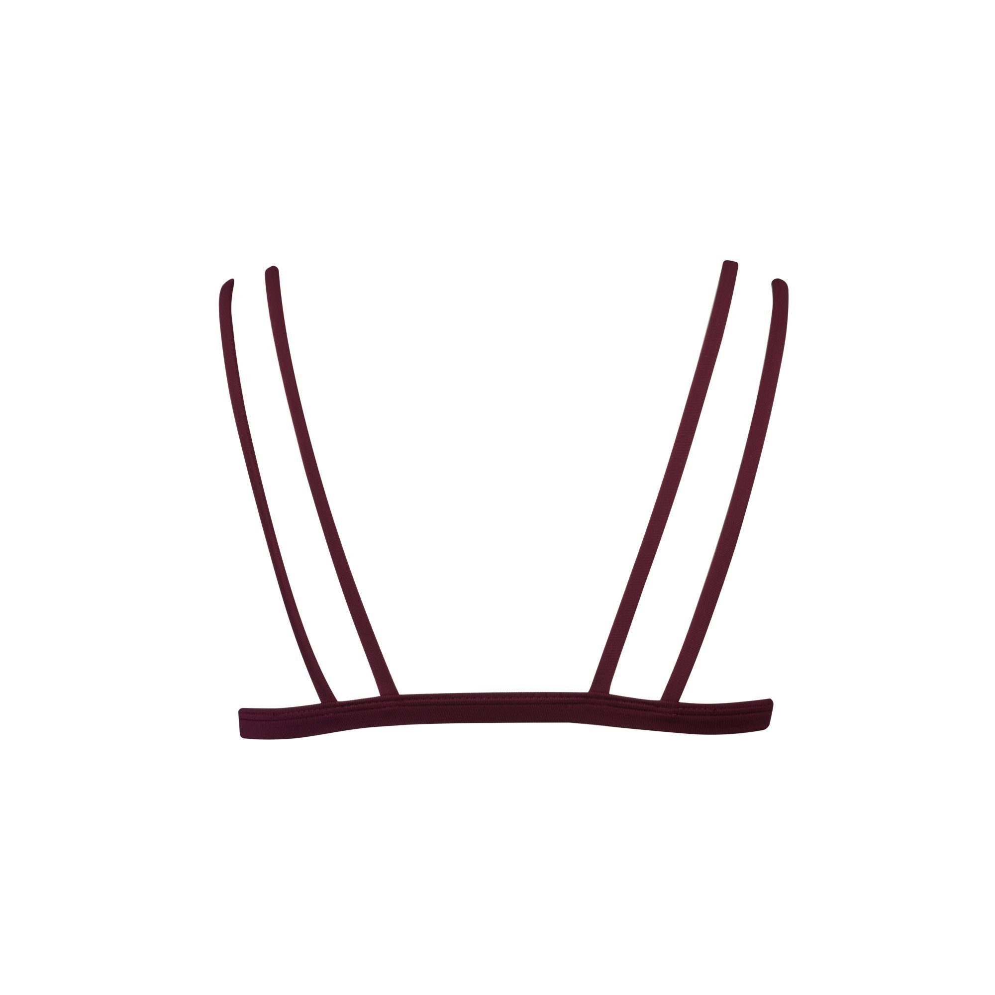 Caravel Bikini Top in Maroon | Beachwear | Tuhkana Swimwear | [product_tag] - Fair Bazaar Ethical Living
