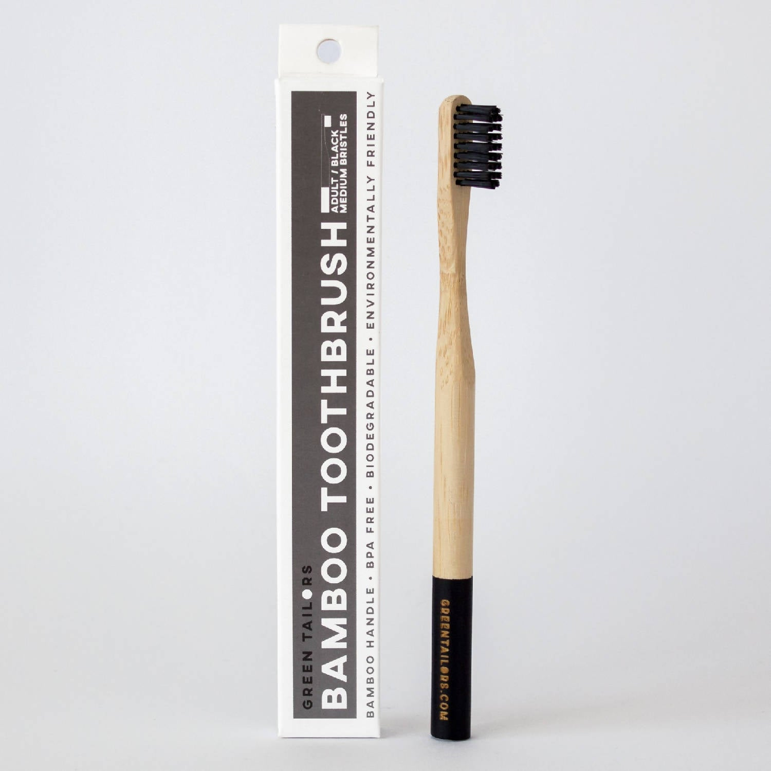 BAMBOO TOOTHBRUSH | Adult | Black | Medium bristles