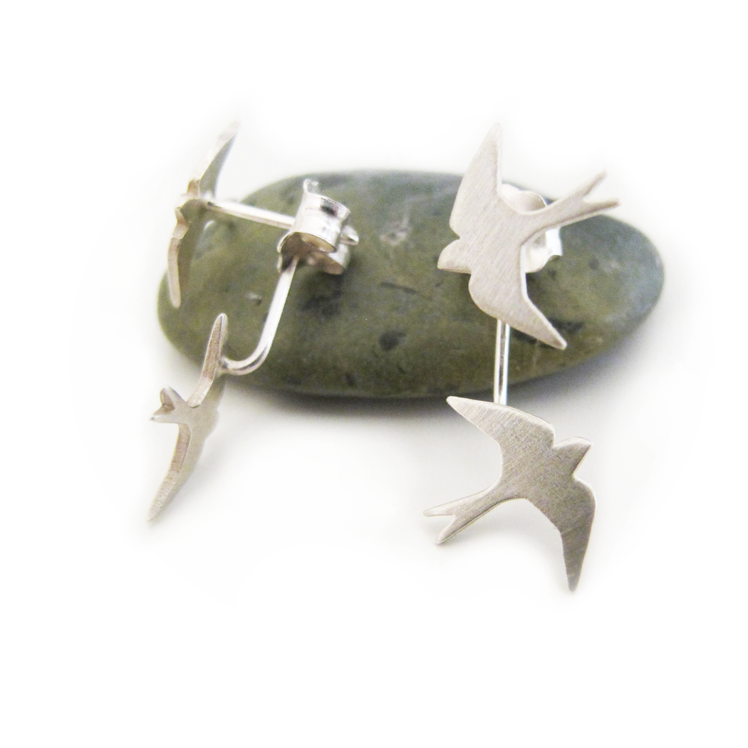Flying Swallow Silver Earrings | Accessories | Tundra | [product_tag] - Fair Bazaar Ethical Living