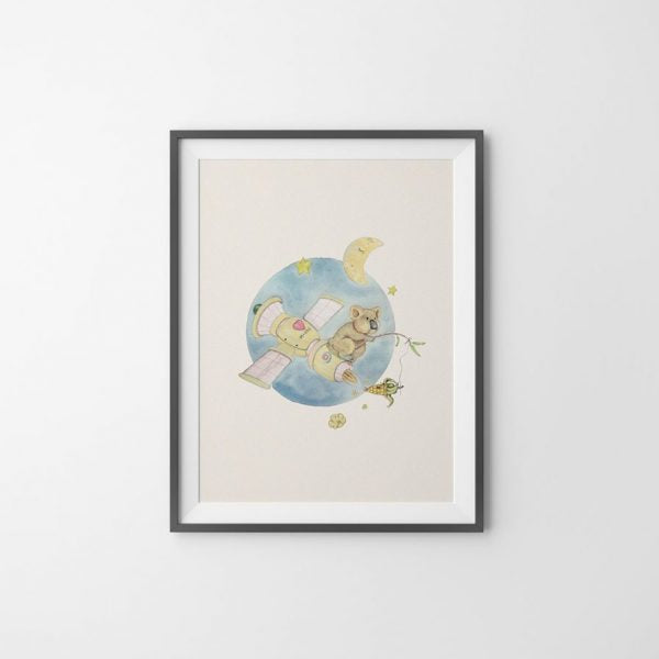 "Painting ""Moonlight Popcorn"" 