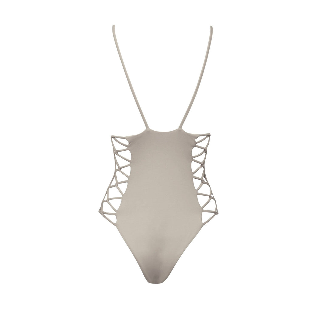 Maze One-Piece in Sand | Beachwear | Tuhkana Swimwear | [product_tag] - Fair Bazaar Ethical Living