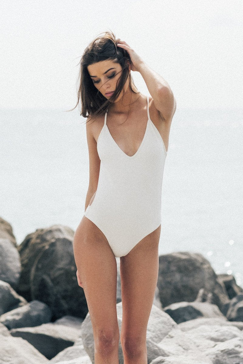 Laze One-Piece - Raw / Extra Small - Tuhkana Swimwear - 3