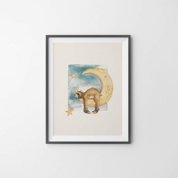 "Painting ""Moon Sleep"" 