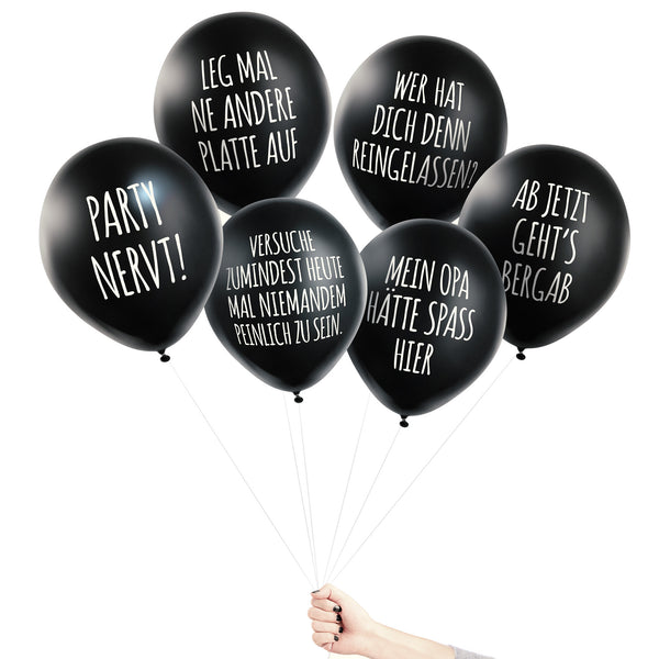 ANTI-PARTY BALLONS SET - 6 STCK