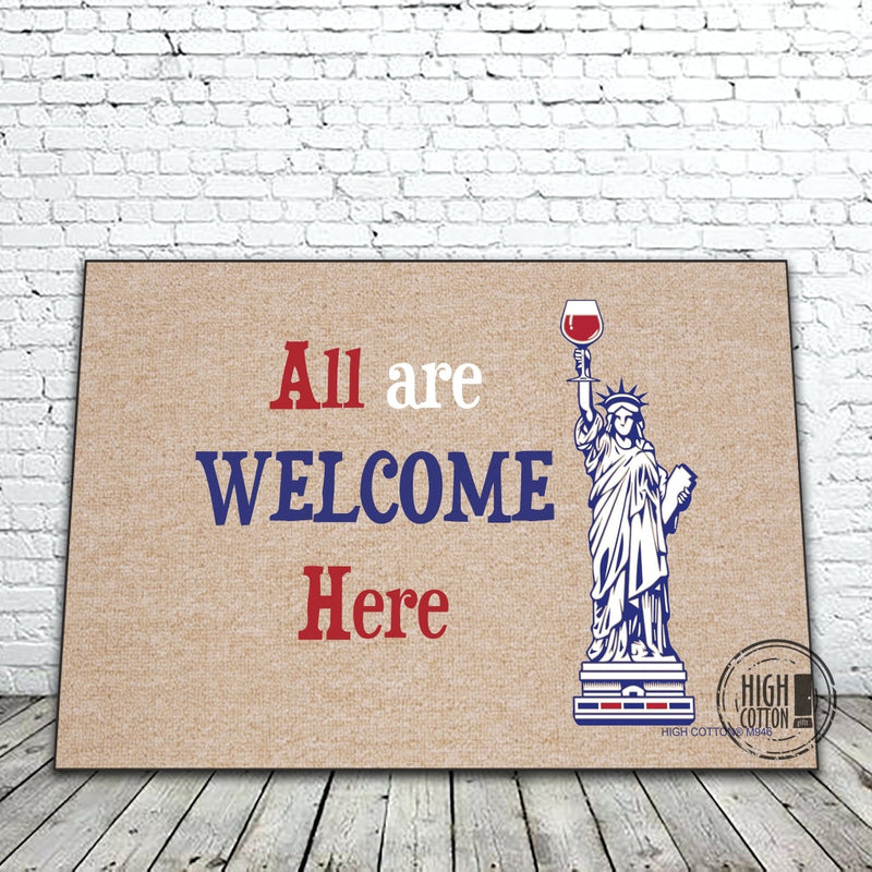 All Are Welcome Here Funny Doormat Doormats