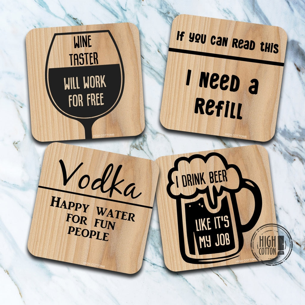 Drinking Coaster Assortment By High Cotton Coasters