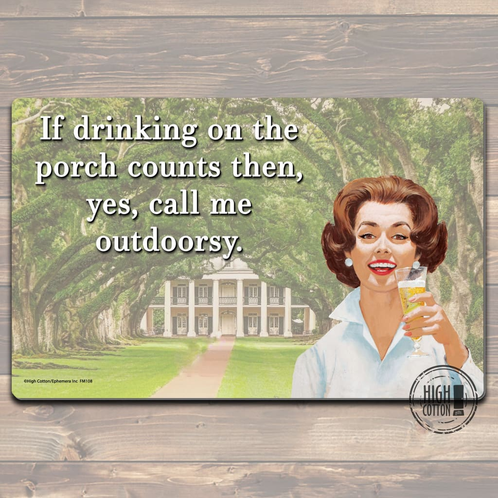 Drinking On The Front Porch Floor Mat Doormats