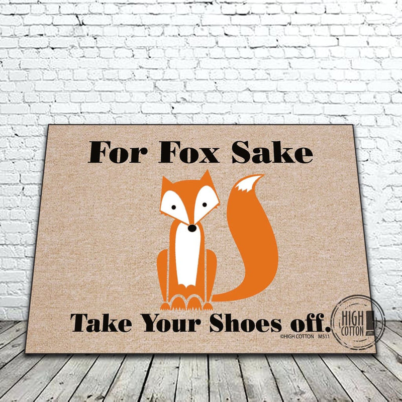 For Fox Sake Funny Door Mat Doormats