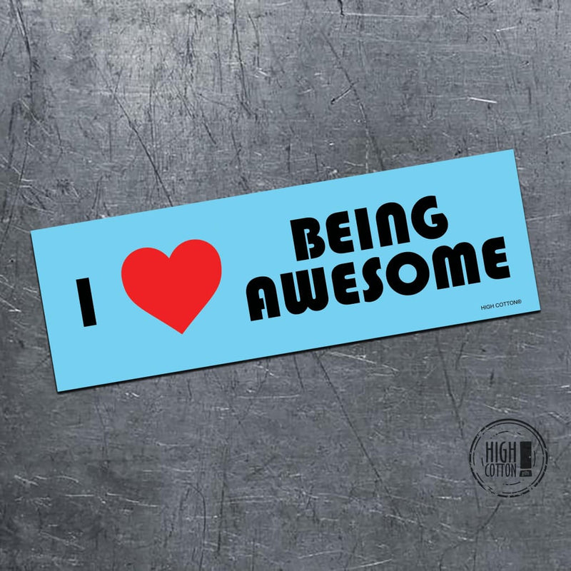 I Heart Being Awesome - Bumper Magnet Bumper Magnets