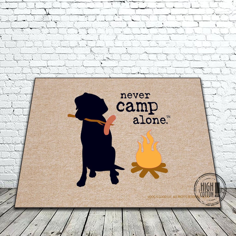 Never Camp Alone Doormat Doormats