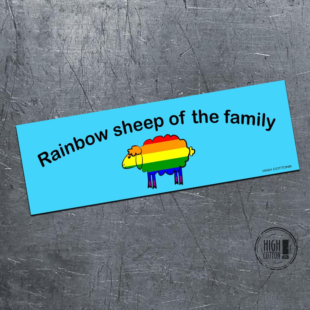 Rainbow Sheep Of The Family - Bumper Magnet Bumper Magnets