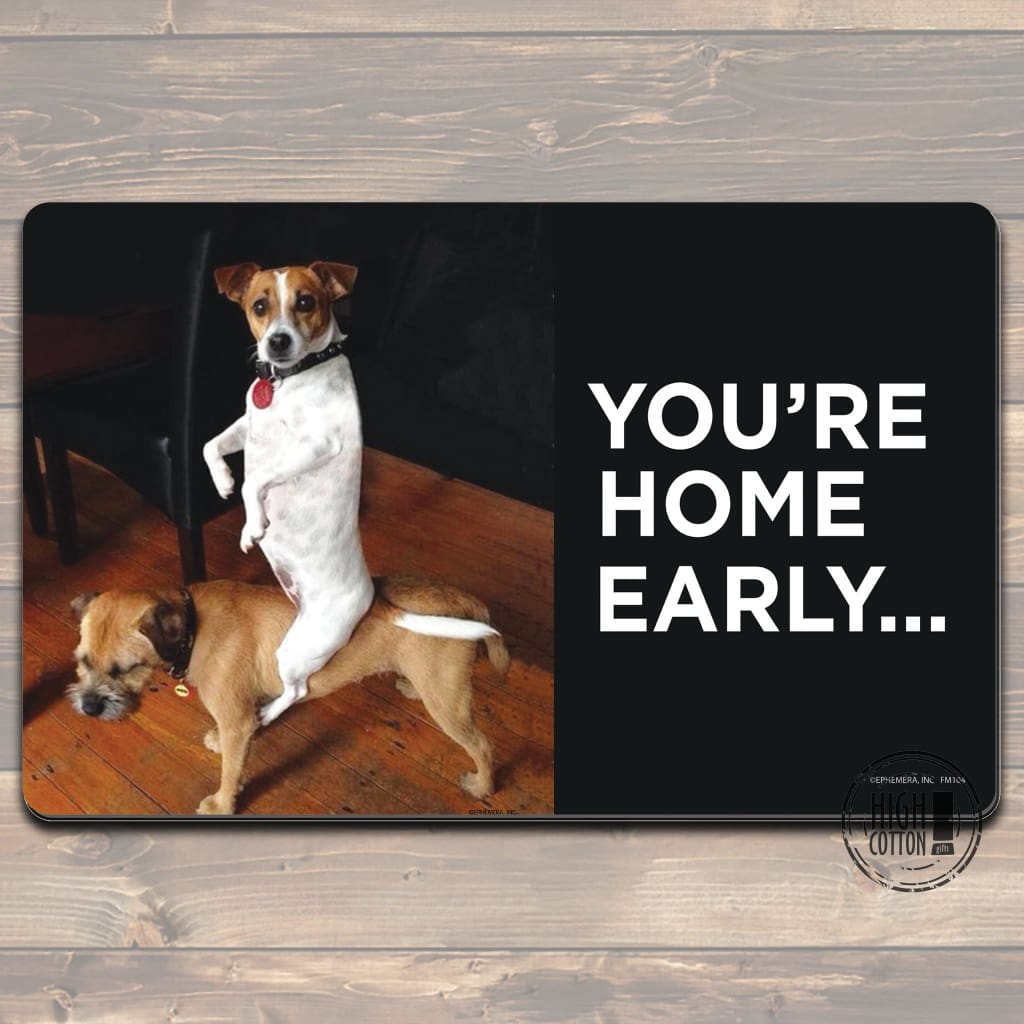 Youre Home Early Felt Floor Mat Doormats