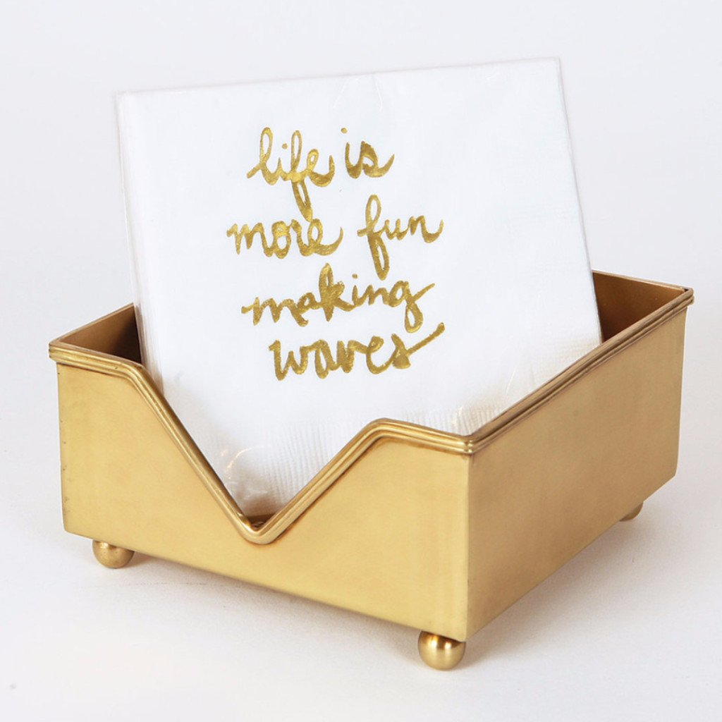 Life is More Fun Making Waves Beverage Napkin