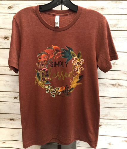 Simply Blessed Solid Tee (in Autumn color)