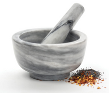 White Marble Mortar and Pestle Set