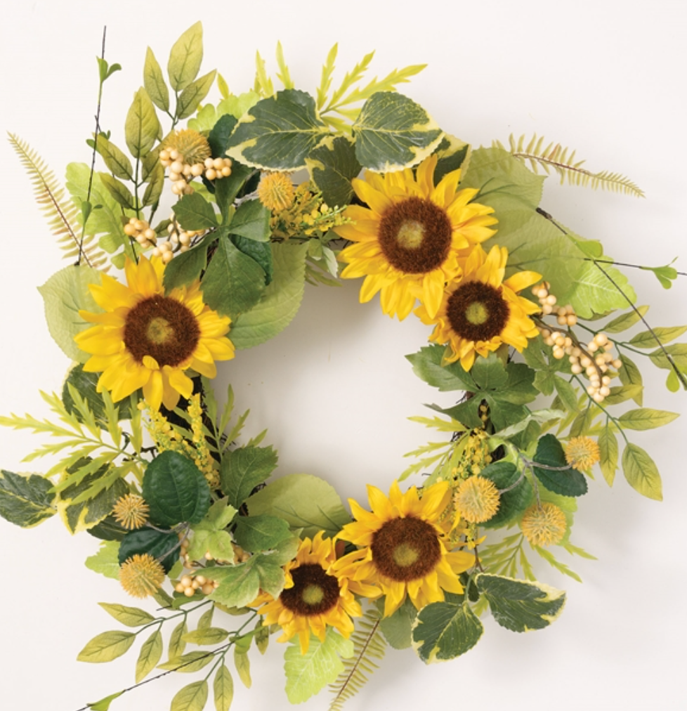 **NEW** Sunflower/Berry Wreath