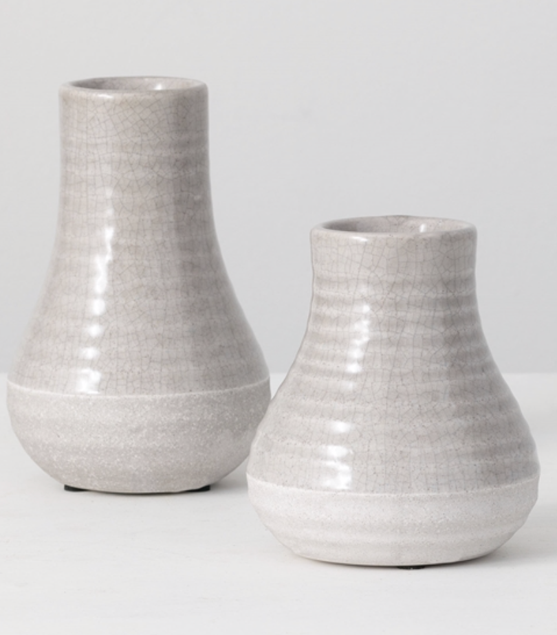 Two Tone Gray Vases