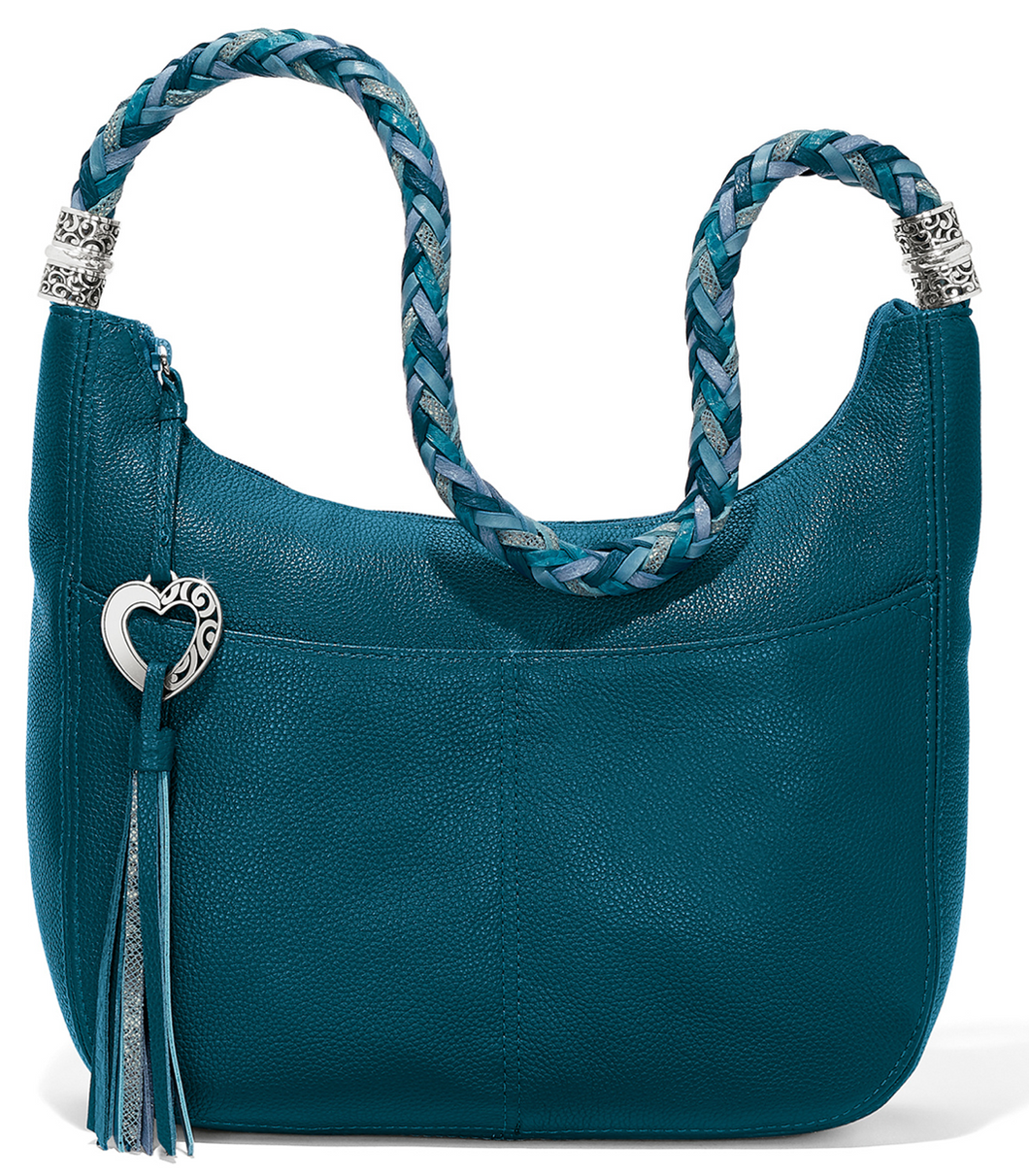 Brighton Barbados Ziptop Hobo Handbag