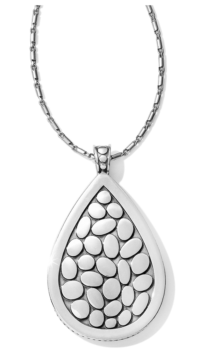 Brighton Pebble Teardrop Convertible Reversible Necklace