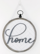 Home Reversible Home Round Wooden Sign