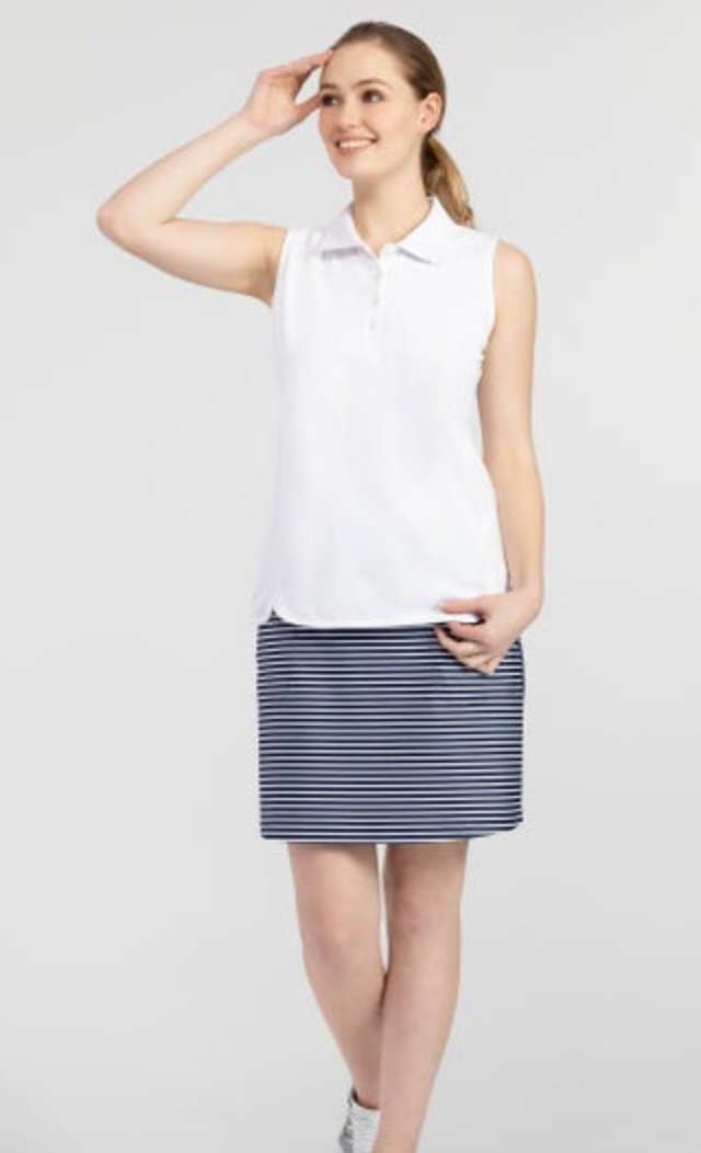 Pull-On Pattern Skort (Nautical)