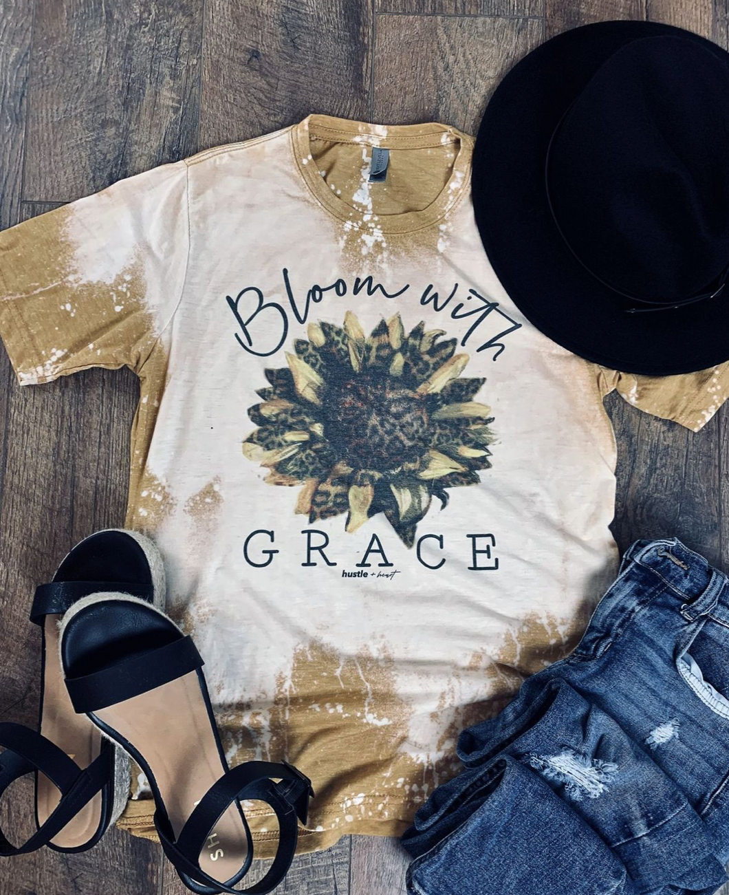 Bloom with Grace Distressed Tee