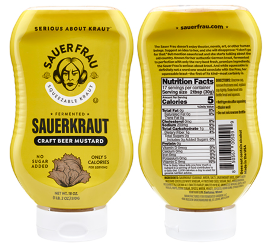 **NEW** Sauer Frau Sauerkraut - Craft Beer Mustard