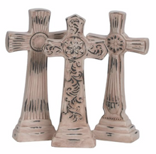 "10.5"" Pottery Cross with Base"