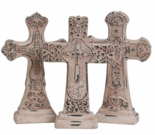 Decorative Cross with Base 8.5