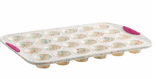 Structure Silicon 24 Count Mini Muffin Pan in White Confetti