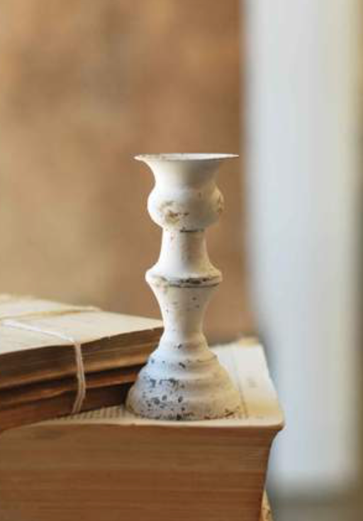 Alette Cream Candle Holder