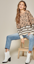 Leopard Stripe Sweater