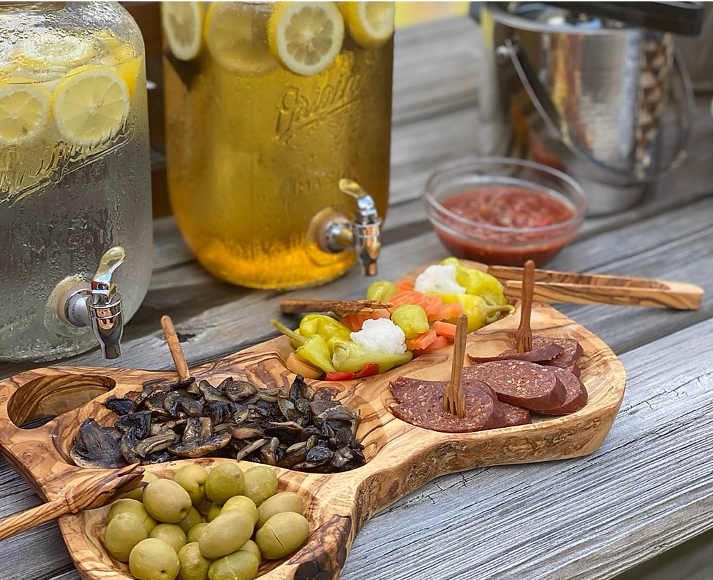 Olive Wood Appetizer Tray