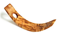 Olive Wood Crescent Bottle Holder