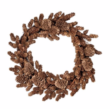 **NEW** Natural Look Mix Pinecone Wreath