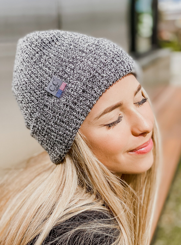 Unisex Marled Knit Beanie - Made in the USA