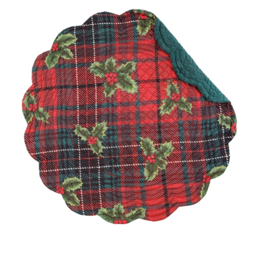 **NEW** Nicholas Plaid Round Placemat