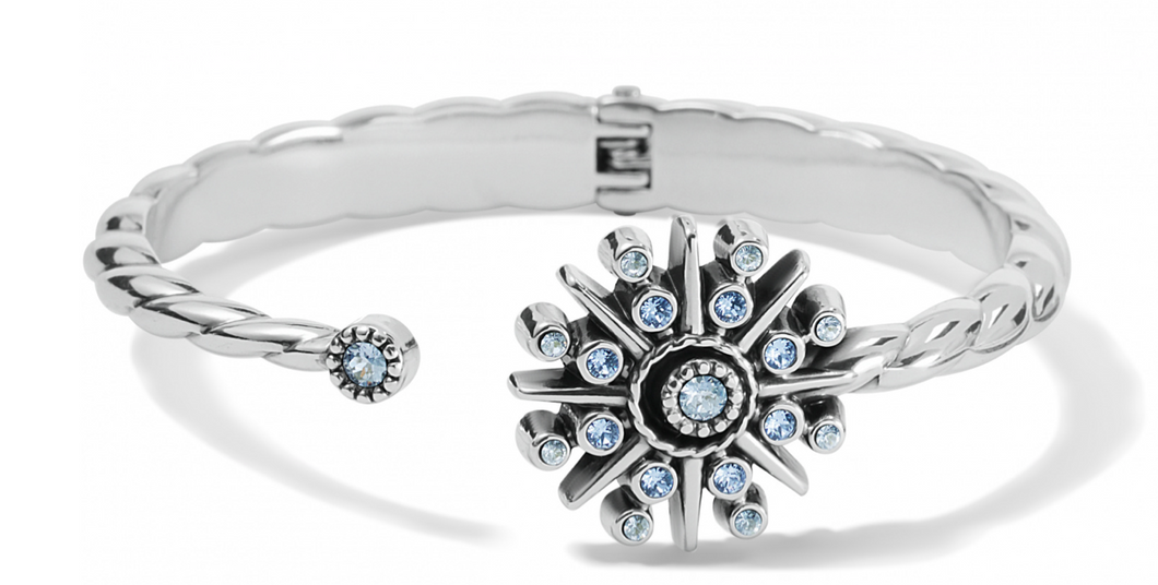 Brighton Halo Ice Open Hinged Bangle