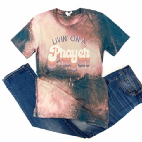 **NEW** Livin on a Prayer Vintage Boyfriend Graphic Tee