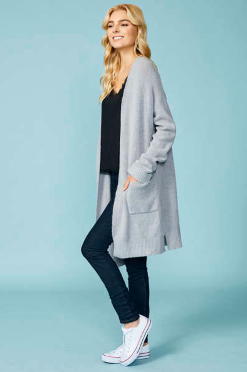 Cuffed Sleeve Cardigan