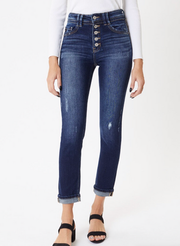 Bailey High Rise Button-Up Skinny Straight KC9249D