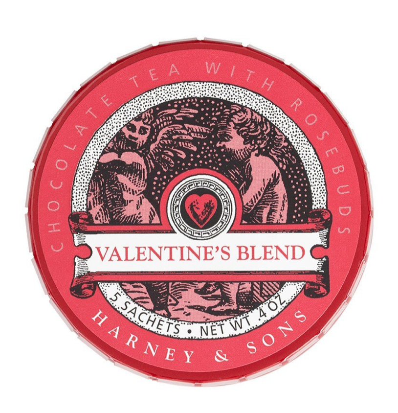 Valentine's Blend Chocolate Tea with Rosebuds