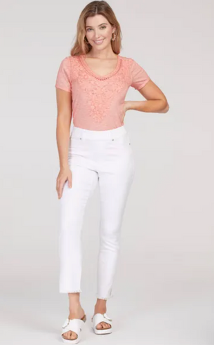 **NEW** Audrey White Ankle Jegging