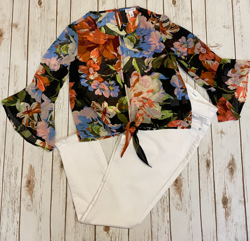 **NEW** Floral Bell-Sleeve Blouse