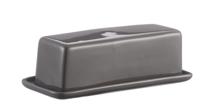 Classic Kitchen Dark Gray Butter Dish