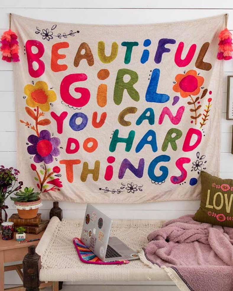 **NEW** Beautiful Girl Tapestry Blanket