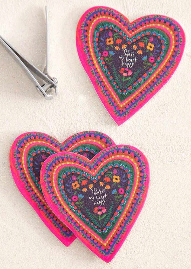 **NEW** Heart Set of 3 Emery Boards