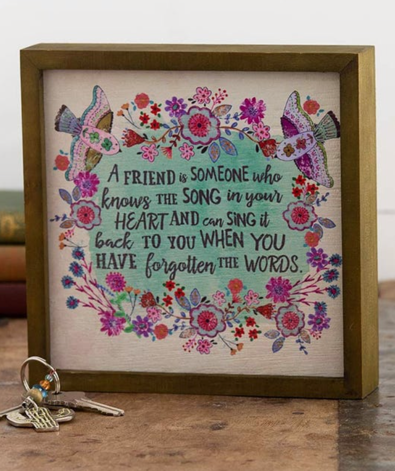 A Friend is Someone...Bungalow Framed Art