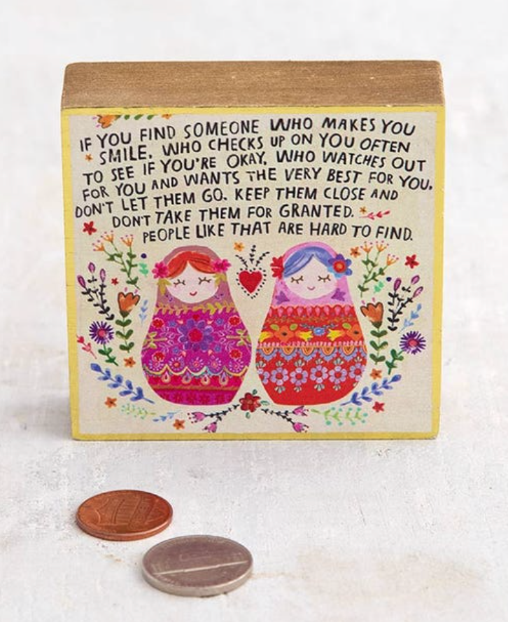 Find Someone Tiny Block Keepsake