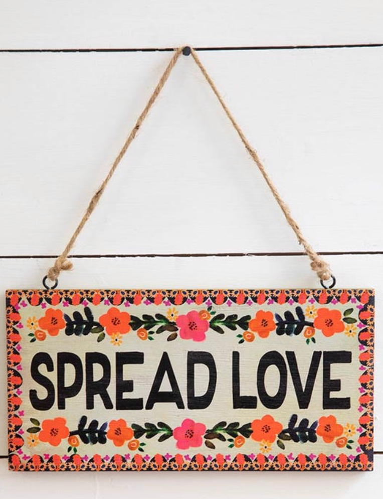 Spread Love Wooden Wall Hangings